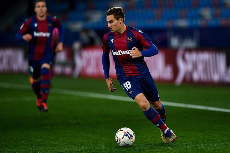 Jorge de Frutos, equipa Levante-Real Sociedad.