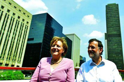 Angela Merkel y Mariano Rajoy, en un paseo en barco en Chicago en mayo, durante una cumbre de la OTAN.