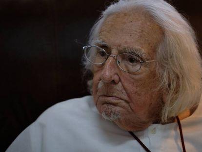 El poeta y sacerdote Ernesto Cardenal, en su casa de Managua el pasado jueves.