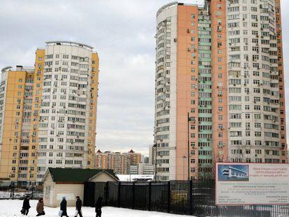 Bloques de viviendas soviéticas en Moscú.