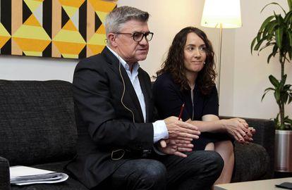Vicente Ros, nuevo director del Palau de la Música de Valencia, con la concejal Glòria Tello.