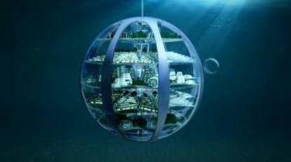 Según el informe 'Smart things future living', de Samsung, en 2116 habrá  viviendas dentro de grandes esferas debajo del agua.