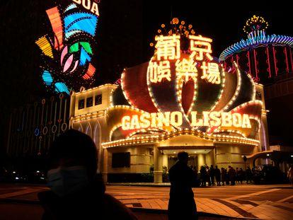 Exterior del Casino Lisboa, en Macao, el pasado febrero.
