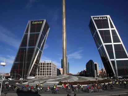 Marcha por la seguridad ciclistas en Madrid, el pasado domingo.
