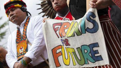 Protesta para exigir medidas contra el cambio climático en Washington.