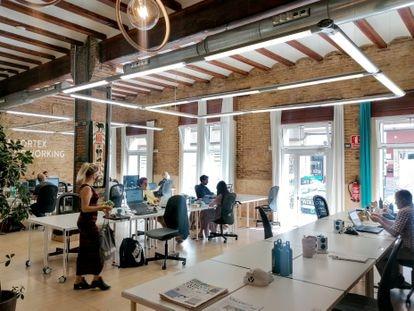 Espacio de Vortex Coworking, en Valencia.
