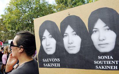 Manifestación en París en apoyo a Sakineh Ashtiani, en 2010.
