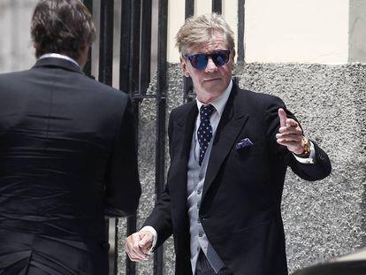 Ernesto de Hannover en la boda de su hijo Christian con Alessandra de Osma en Lima, el pasado viernes.