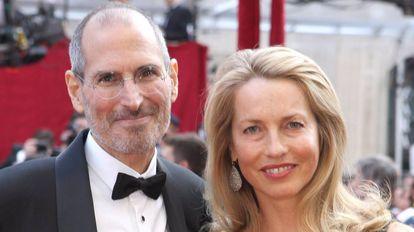 Steve Jobs y Laurene Powell.
