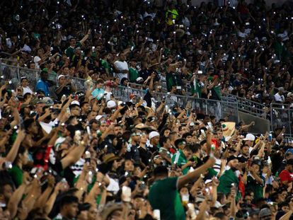 Los aficionados de México en Charlotte, Carolina del Norte.
