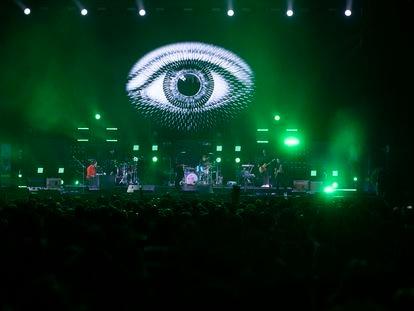 Escena de un concierto de Vetusta Morla en el WiZink Center de Madrid.