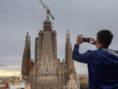 Presentación de los últimos avances en la construcción del templo de las Sagrada Familia en Barcelona.