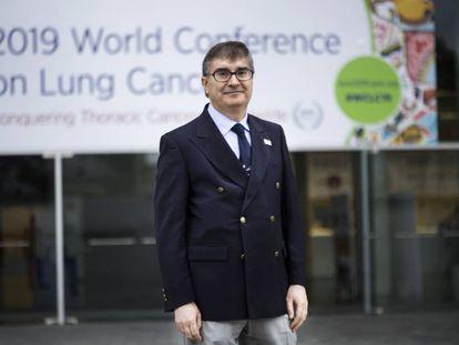 El doctor Ramón Rami-Porta, durante el Congreso Mundial sobre Cáncer de Pulmón que se celebra en Barcelona.