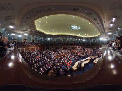 El Congreso de EE UU durante el discurso del estado de la Unión.