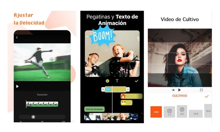 Aplicación de edición de vídeos