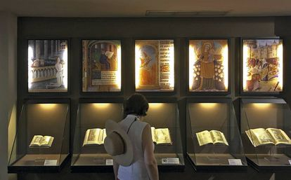 Libros de horas expuestos en el Museo del Libro Fadrique de Basilea, ahora cerrado.