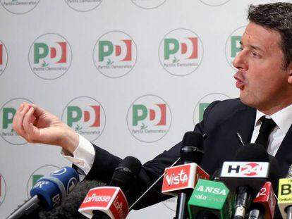 Matteo Renzi, líder del PD, dimite tras el batacazo electoral en las legislativas italianas de 2018.