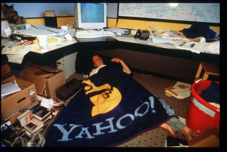 Un empleado de Yahoo! el 15 de marzo de 1997 en San Francisco