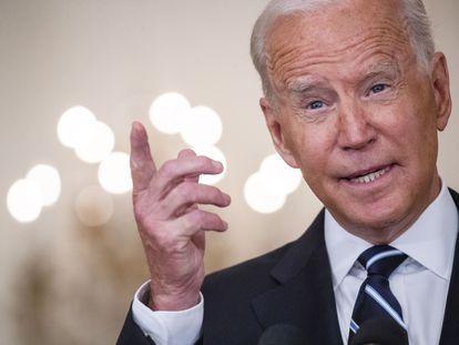 El presidente de EE UU, Joe Biden, este miércoles en la Casa Blanca.