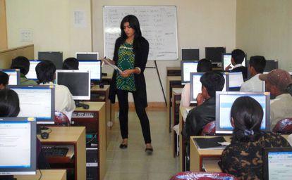 Curso de formación con la empresa Usha Martin Rural Services en Jharkhand, India.