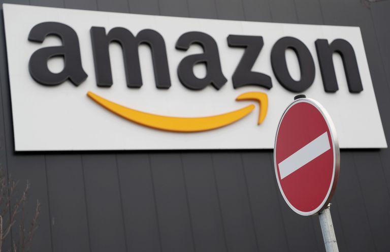 Logo de Amazon en Alemania en 2018.