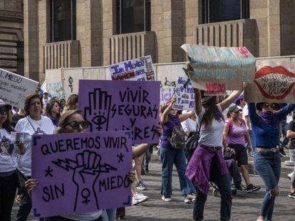 Manifestación feminista en Ciudad de México el pasado 8 de marzo.