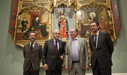 Desde la izquierda, José María Lassalle, Plácido Arango, Íñigo de Arteaga y Miguel Zugaza.