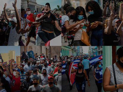 Imágenes de las protestas a través de las redes sociales. En video, entrevista a Abraham Jiménez y las detenciones en las calles de La Habana.