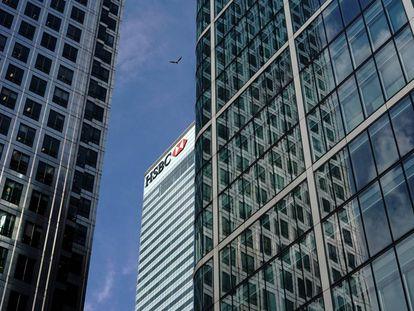 La sede del banco en Canary Wharf, en Londres.