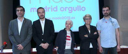Presentación de los actos de Madrid Orgullo, esta mañana.