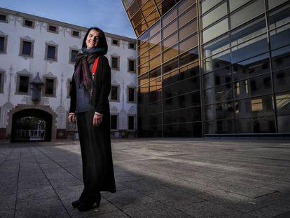 Judit Carrera, en el Pati de les Dones del CCCB, el centro cultural que dirige desde hace un mes y medio.