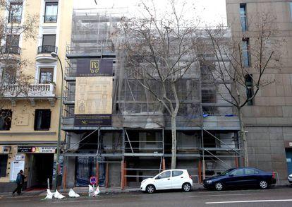 Fachada de la antigua casa de Ramón y Cajal en Madrid.