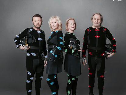 Los miembros de ABBA, en la imagen promocional de sus nuevas canciones.