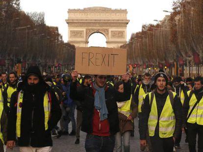 Manifestación de chalecos amarillos el sábado en París.