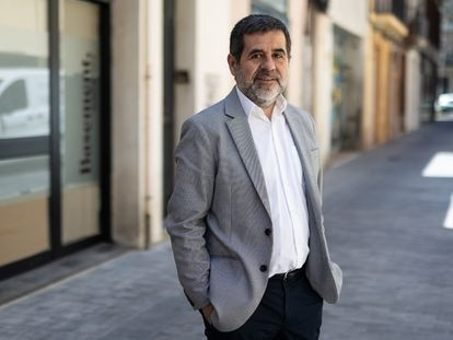 Jordi Sánchez, secretario general de Junts per Catalunya, este jueves, en Barcelona. / ALBERT GARCIA