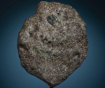 Un trozo del meteorito EC 002.