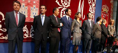 Toma de posesión del Gobierno de González, esta mañana en la Real Casa de Correos.