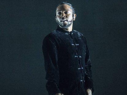 Kendrick Lamar, durante su presentación en el festival de Coachella en 2017.
