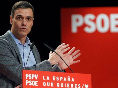 El secretario general del PSOE, Pedro Sánchez, en un acto en la Universidad de Alicante, este sábado.
