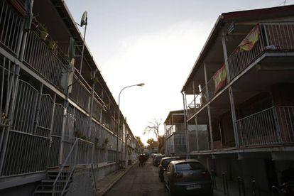 Las calles del barrio Unión Vecinal de Absorción (UVA) de Hortaleza