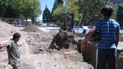 La excavación de la fosa palentina.