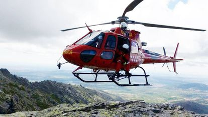 Helicóptero de los Bomberos de la Comunidad de Madrid.