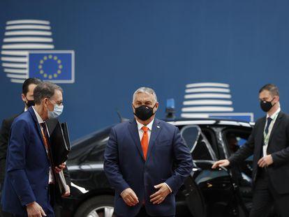El primer ministro húngaro, Viktor Orbán, a su llegada al Consejo Europeo, este jueves en Bruselas.