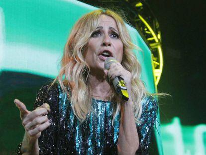 Marta Sánchez en un concierto celebrado en México el 7 de julio. En vídeo, imágenes del incidente en Torrelavega.