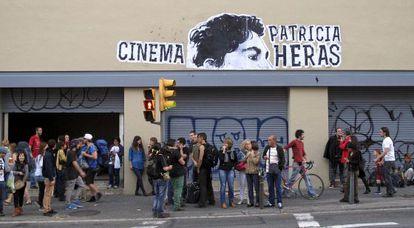 Ocupación del Palacio del Cinema para la proyección del documental sobre Patricia Heras.