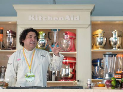 El chef peruano Gastón Acurio, durante un festival gastronómico en Miami.
