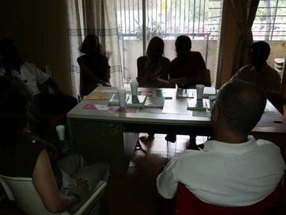 Una reunión de Alcohólicos Anónimos, en una imagen de archivo.