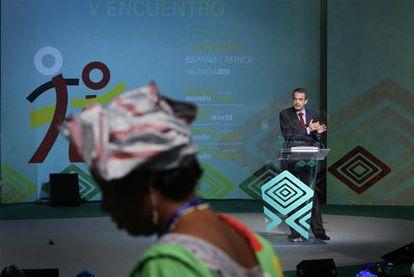 """Zapatero  se declaró ayer en Valencia un """"aliado"""" de las mujeres."""