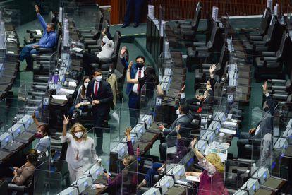 Sesión semipresencial ordinaria en la Cámara de Diputados, este miércoles.
