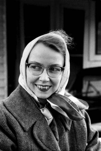 Flannery O'Connor, en 1961.